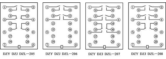 中间继电器dz-200x