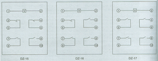中间继电器dz-15