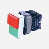 XB2-BL8325 绿平钮、红凸钮带标记双键控制开关