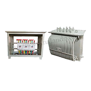 Special voltage regulating transformer for tunnel