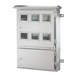 不锈钢上下双门电表箱