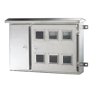 不锈钢左右双门电表箱